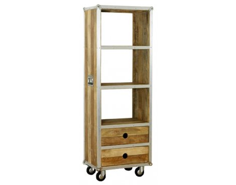 Baumhaus IRC01A Roadie Chic Oak Tall Bookcase