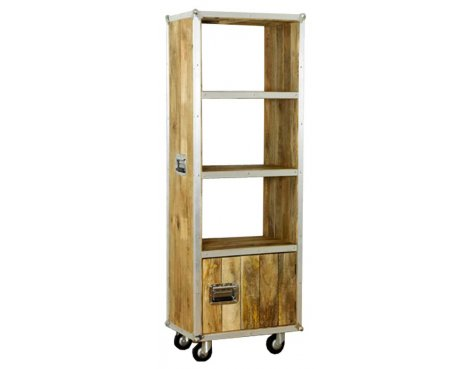 Baumhaus IRC01C Roadie Chic Oak Tall Bookcase