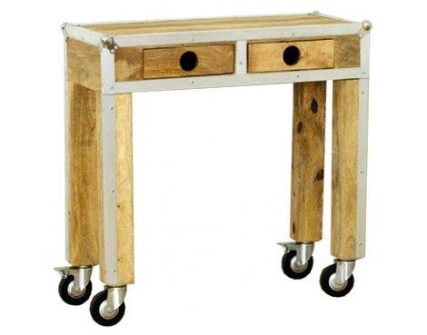 Baumhaus IRC02C Roadie Chic Oak Console Table