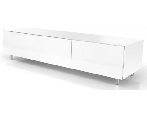 Just Racks JRL1650S White TV Stand