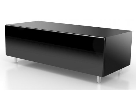 Just Racks JRL1110S-SL Black TV Stand
