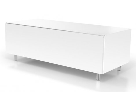 Just Racks JRL1110S-SL White TV Stand