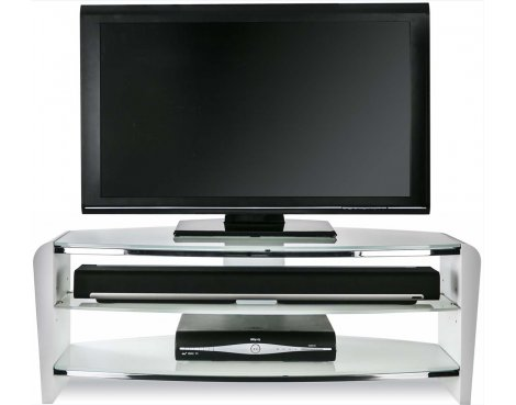 "Alphason Francium FRN1100/ARCTIC White TV Stand for up to 50"" TVs"