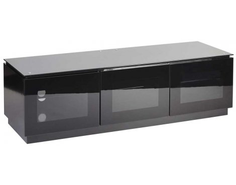 MMT D1500 Black Gloss TV Cabinet For TVs up to 70""