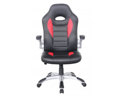 Alphason Tallegda Black and Red Leather Executive Chair