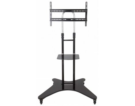 AVF WFSL600 Mobile Black Trolley Stand with Shelf