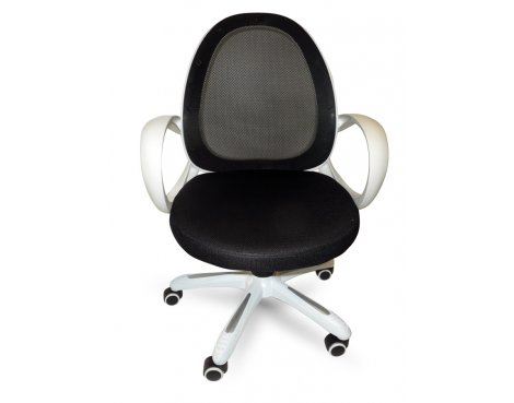 Alphason Jordan Black and White Mesh Operator Chair