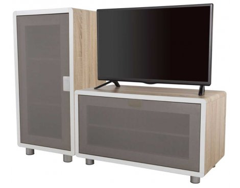 AVF Connect Whitewashed Oak Modular TV Stand - 2 Units