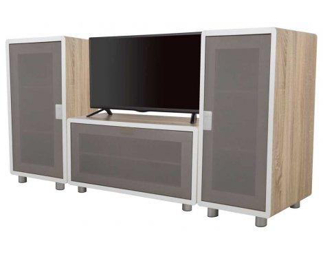 AVF Connect Whitewashed Oak Modular TV Stand - 3 Units