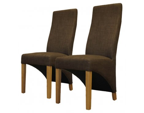 Baumhaus COR03C Full Back Upholstered Dining Chairs