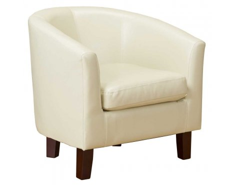 PU Leather Tub Chair in Ivy