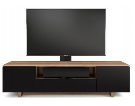 BDI Luxury Nora Slim Gloss Natural Walnut TV Cabinet