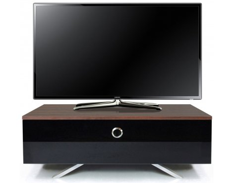 MDA Designs Cubic Hybrid Walnut and Black TV Stand