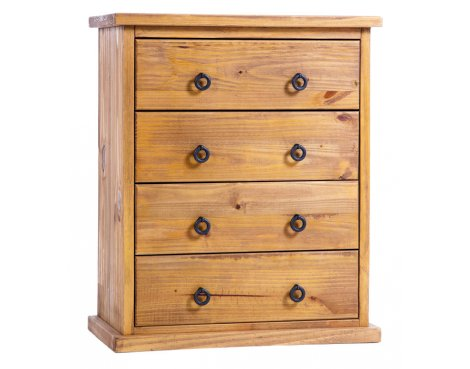 Core Products Farmhouse FH314 Pine Chest of 4 Drawers