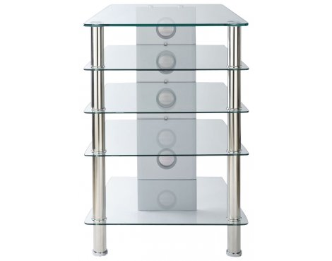 MMT 5 Shelf Premium Clear Glass Hifi Stand