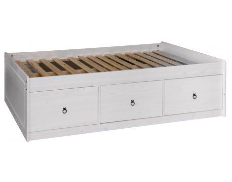 Core Products Corona White Washed CRW800 Bed Cabin