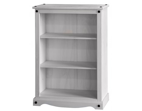 Core Products Corona White Washed CRW912 Low Bookcase