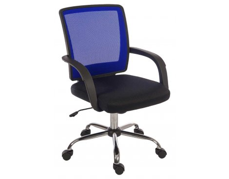 Teknik Star Mesh Black & Blue Office Chair