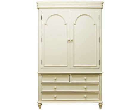 Ultimum Chateau Off White 4 Drawer Gents Wardrobe