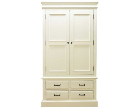 Ultimum Reiver Off White 4 Drawer Wardrobe