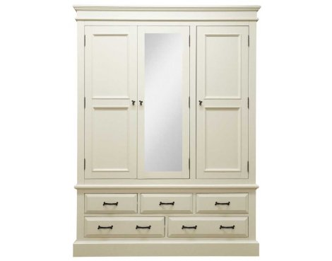 Ultimum Reiver Off White 5 Drawer Wardrobe