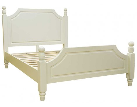 Ultimum Reiver Off White King 5\'0 Panelled Bed