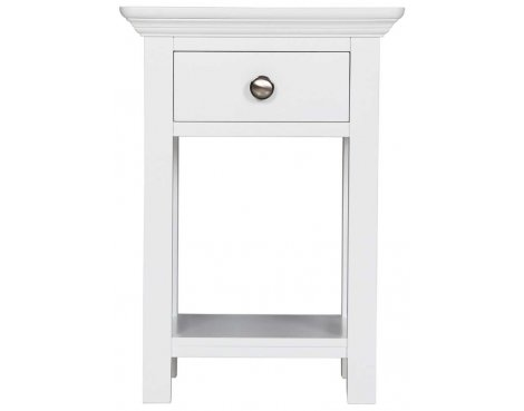 Ultimum Royal Elegance White Open Bedside Table