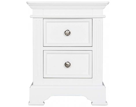 Ultimum Royal Elegance White 2 Drawer Bedside Table