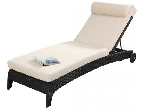 Luxan Port Royal Prestige Lounger in Black