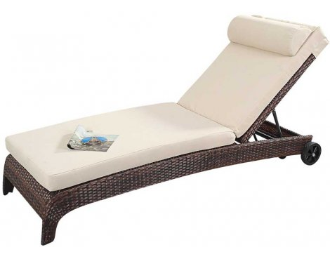 Luxan Port Royal Prestige Lounger in Brown