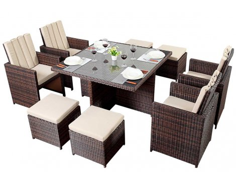 Luxan Port Royal Prestige Cube 4 in Brown