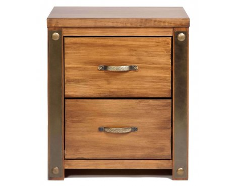 Core Products Forge FG310 Antique Brown Bedside Cabinet