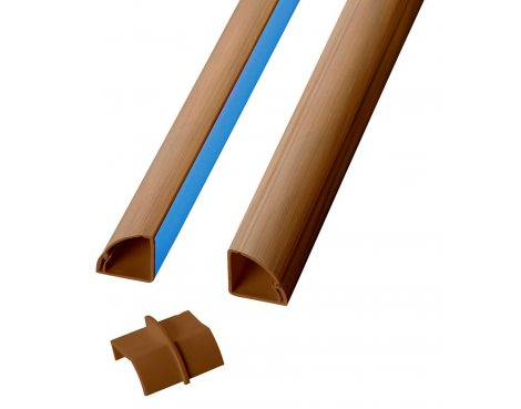 D-Line Oak Corner Cable Trunking For Floors and Worktops