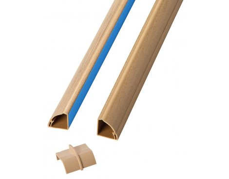 D-Line 2D1522QS Premium Wood Corner Cable Trunking For Floors and Worktops