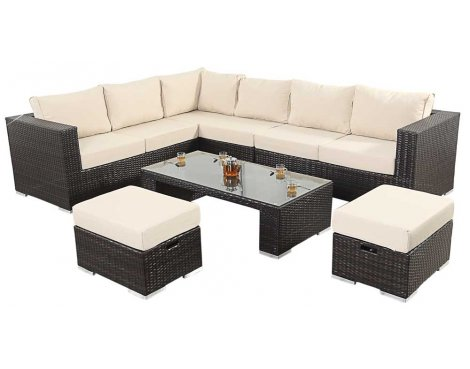 Luxan WGF-102 Port Royal Luxe Large Corner Sofa Set