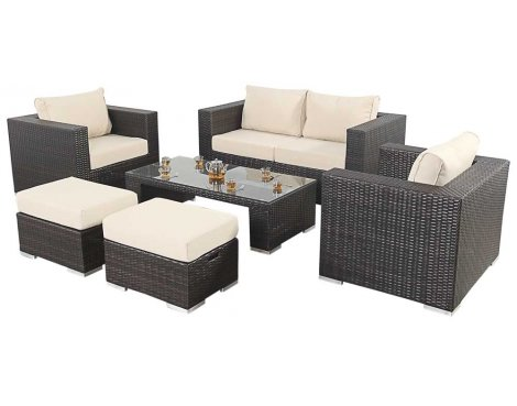 Luxan WGF-105 Port Royal Luxe Small Sofa Set