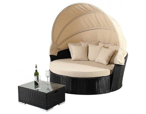 Luxan WGF-315 Port Royal Prestige Black Large Daybed