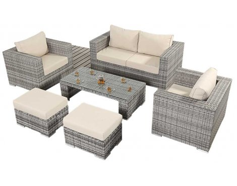 Luxan WGF-405 Port Royal Luxe Rustic Small Sofa Set