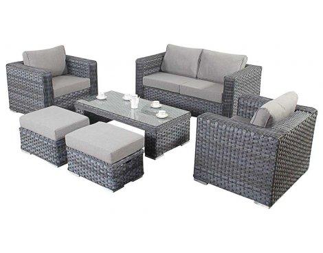 Luxan WGF-505 Port Royal Platinum Grey Small Sofa Set