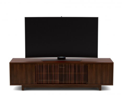 BDI Vertica Chocolate Walnut Low TV Stand