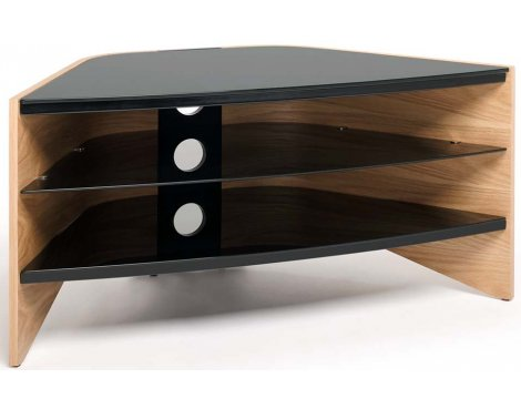Techlink Riva Light Oak/Black TV stand for up to 50""