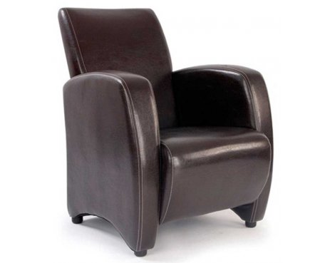Ultimum Metro High Back Brown Lounge Armchair