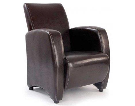 Ultimum Metro High Back Brown Lounge Armchair