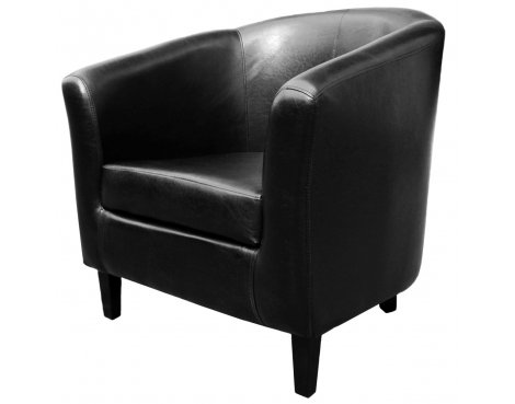Teknik Tub Chair - Faux Leather - Black