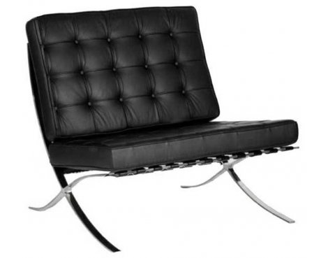 Ultimum Contemporary Oversized Black Leather Faced Reception Chair
