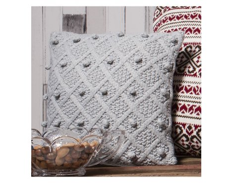 Gallery Bobble Cushion - Grey