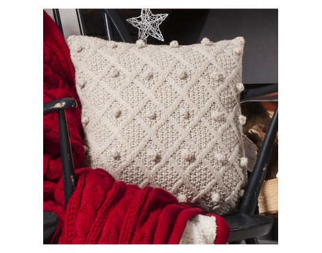 Gallery Bobble Cushion - Natural