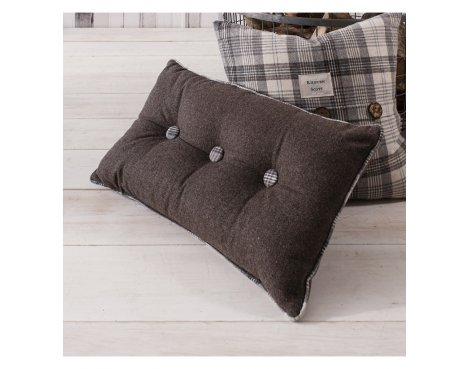 Gallery Button Cushion - Grey