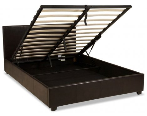 Luxan Ottoman Brown 4\'6 Double Bedframe