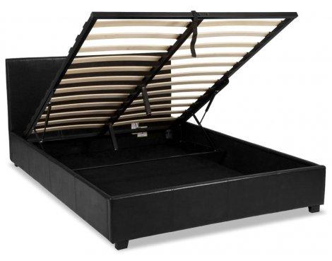 Luxan Ottoman Black 4\'6 Double Bedframe